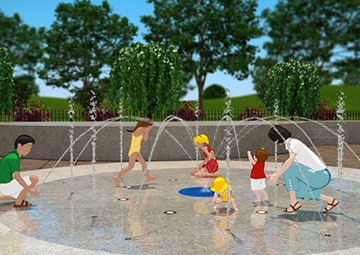 Clinton Splashpad Rendering